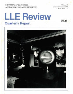 Cover of LLE Review 69