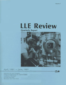 Cover of LLE Review 7