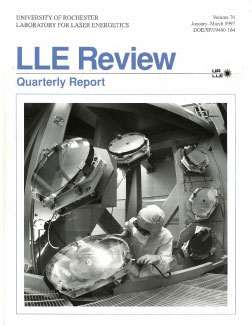 Cover of LLE Review 70