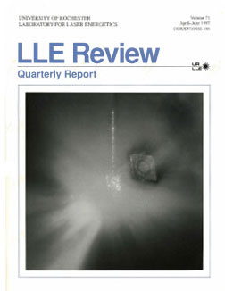 Cover of LLE Review 71