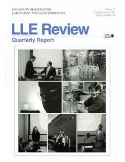 Cover of LLE Review 72
