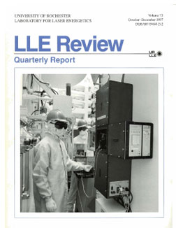 Cover of LLE Review 73
