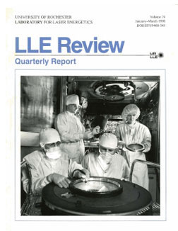 Cover of LLE Review 74