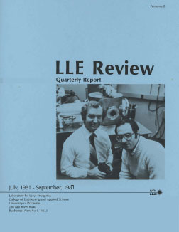 Cover of LLE Review 8