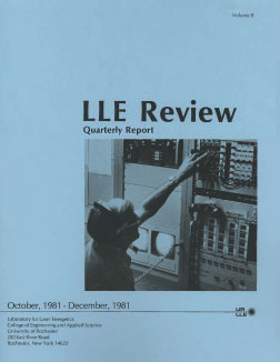 Cover of LLE Review 9