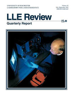 Cover of LLE Review 92