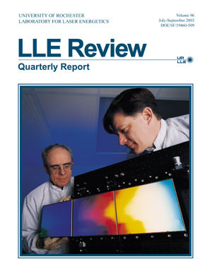 Cover of LLE Review 96