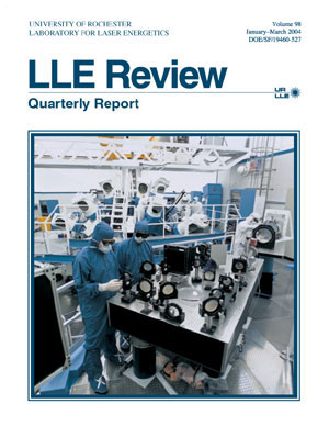 Cover of LLE Review 98