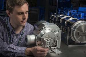 Collin Stillman with Hall-geometry crystal spectrometer