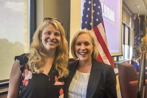 Alison Christopherson with Senator Kirsten Gillibrand