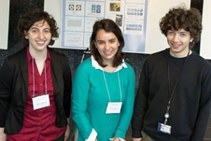 Students Emily Armstrong, Christa Caggiano, and Raz Rivlis