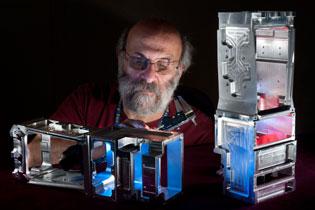 Ron Callari machining a spectrometer body