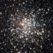 Star cluster image captured with the Hubble Telescope
