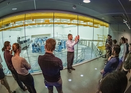 Tours of the lab given by Dave Canning in the OMEGA EP Viewing Gallery