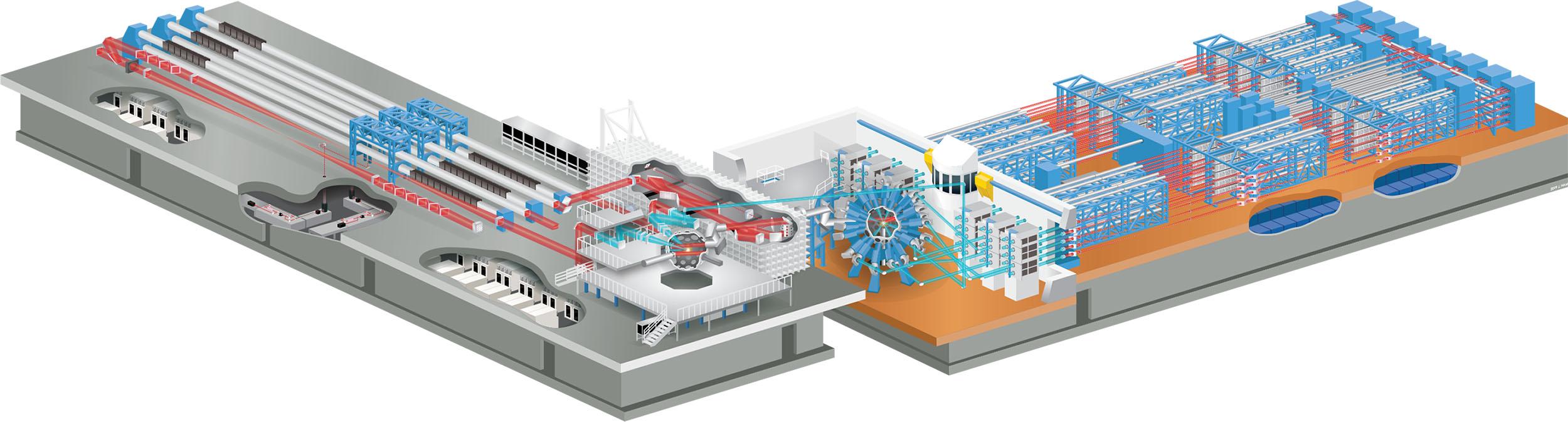 Omega Laser Facility illustration