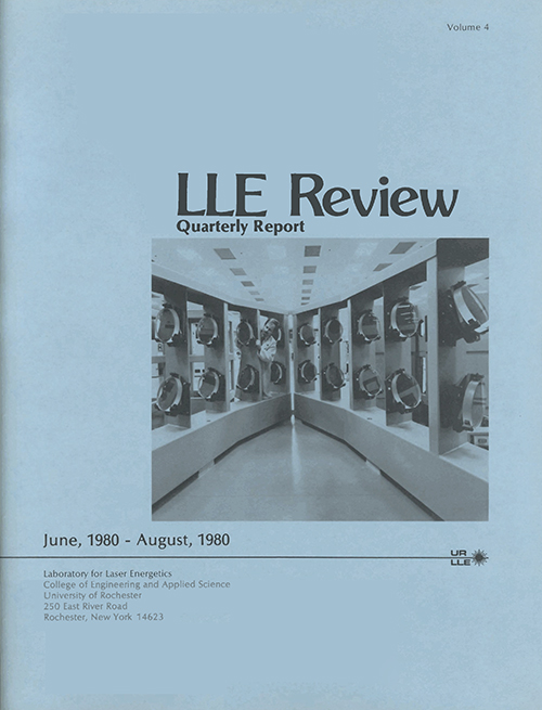 LLE Review Volume 4