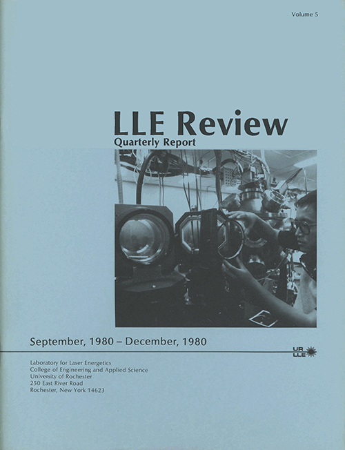LLE Review Volume 5