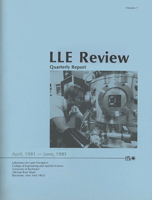 LLE Review Volume 7