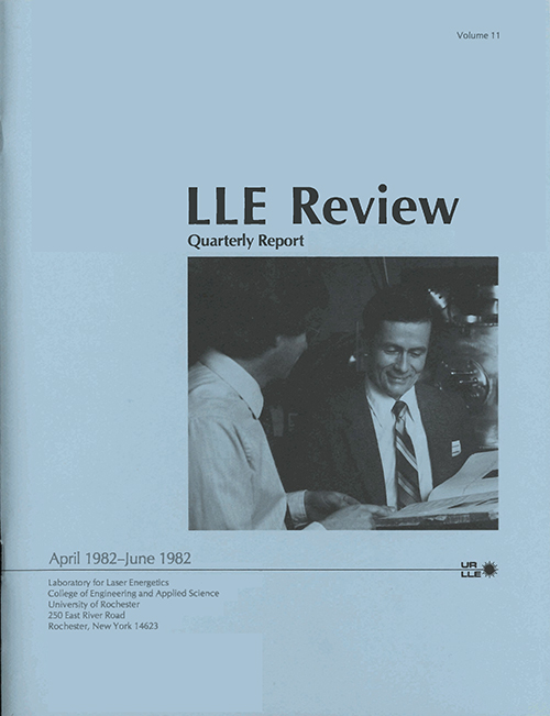 LLE Review Volume 11