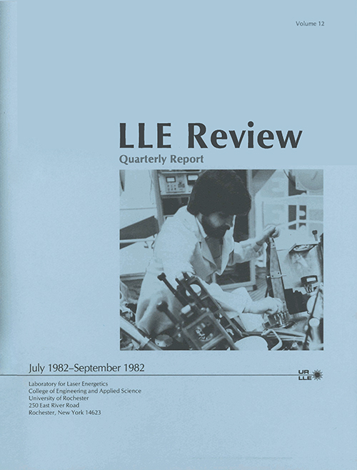 LLE Review Volume 12