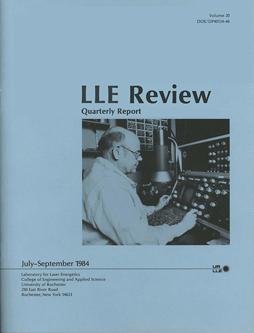 LLE Review Volume 20