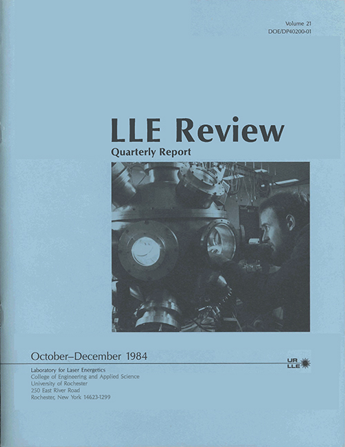 LLE Review Volume 21