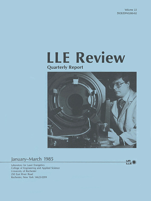 LLE Review Volume 22