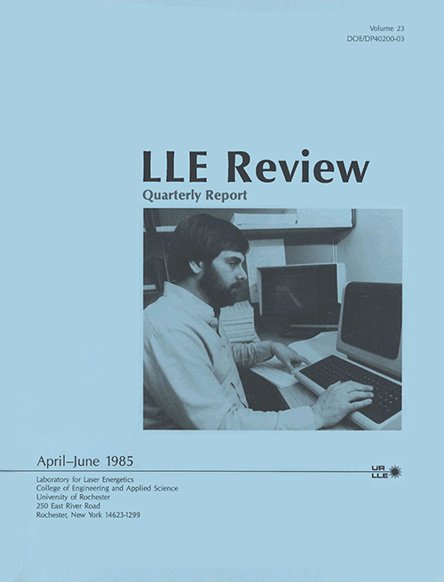 LLE Review Volume 23