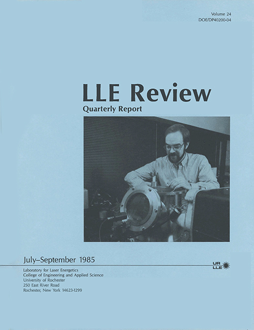 LLE Review Volume 24