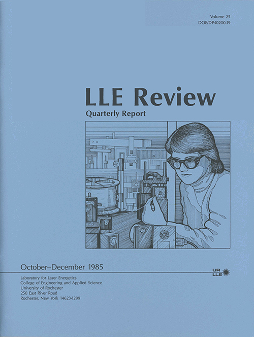 LLE Review Volume 25
