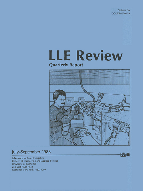 LLE Review Volume 36