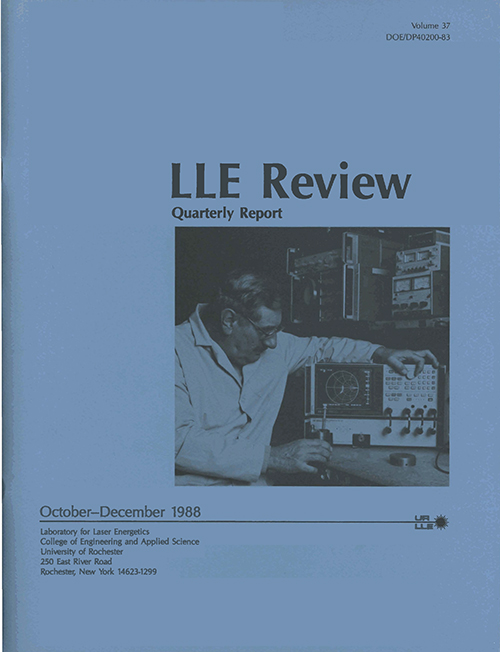 LLE Review Volume 37