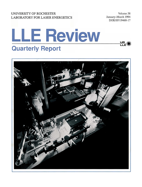 LLE Review Volume 58
