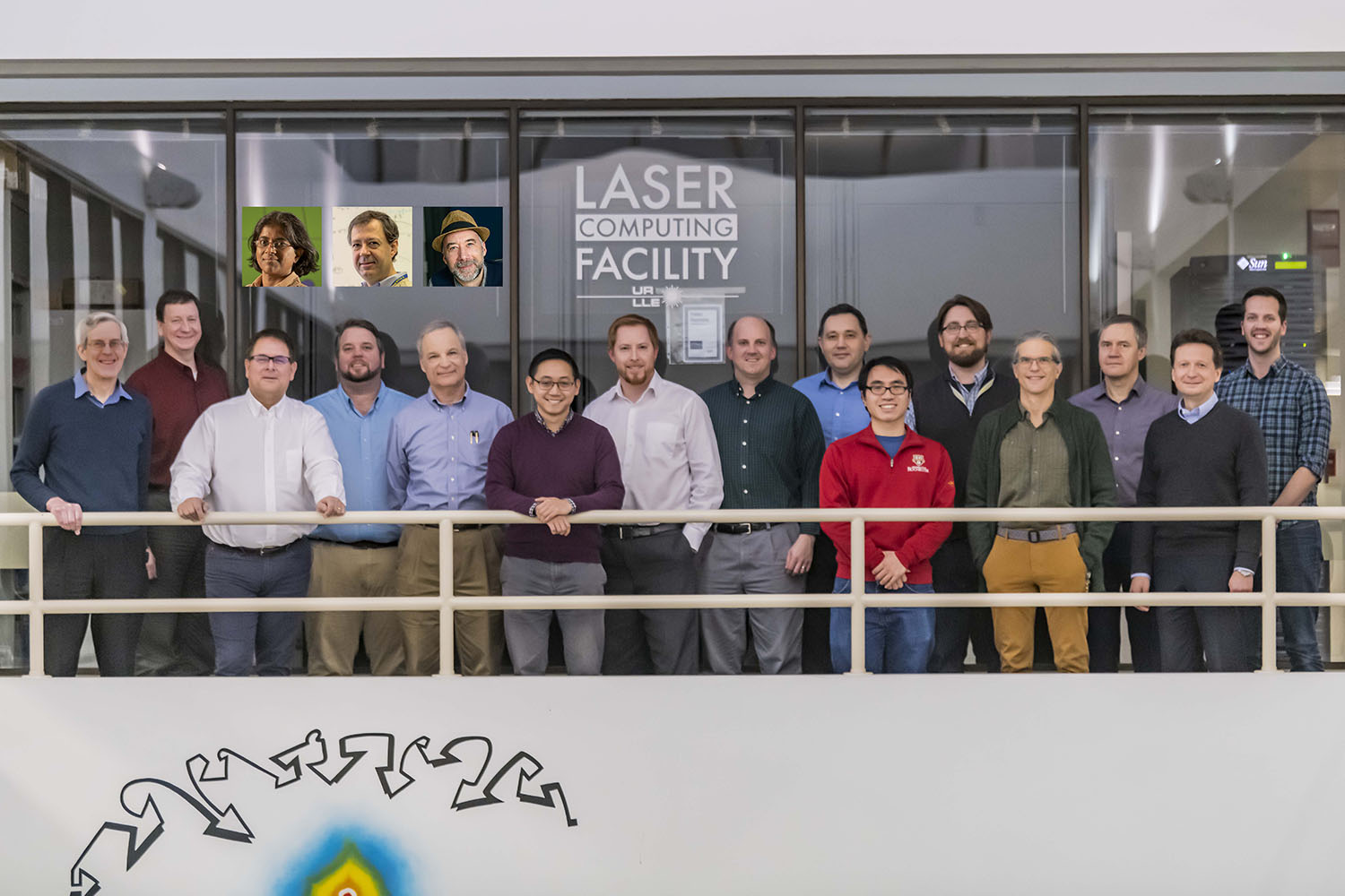 Theory Division group photo in front of the Laser Computing Facility