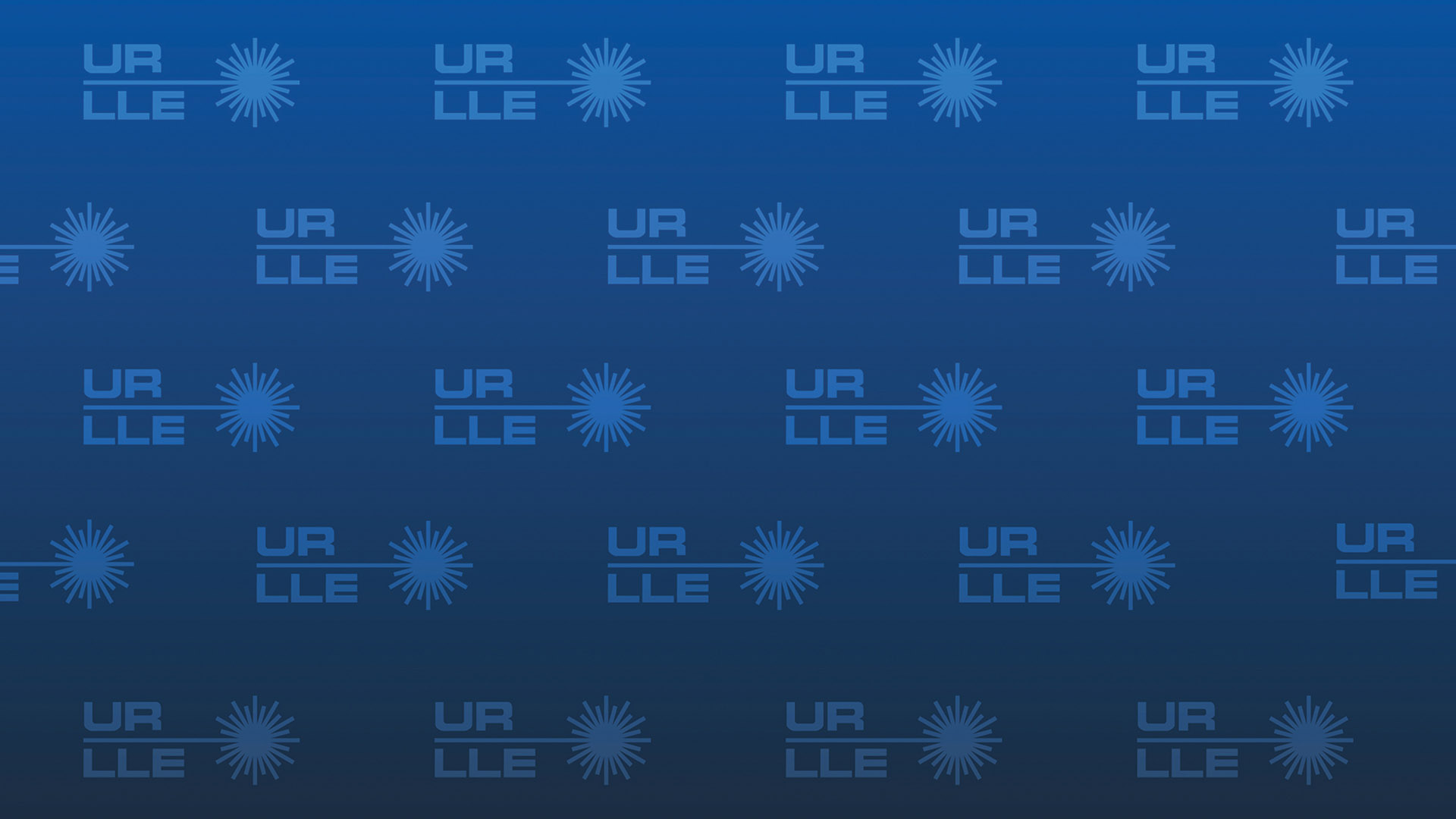 LLE Zoom background, blue with pattern of URLLE logos in the background