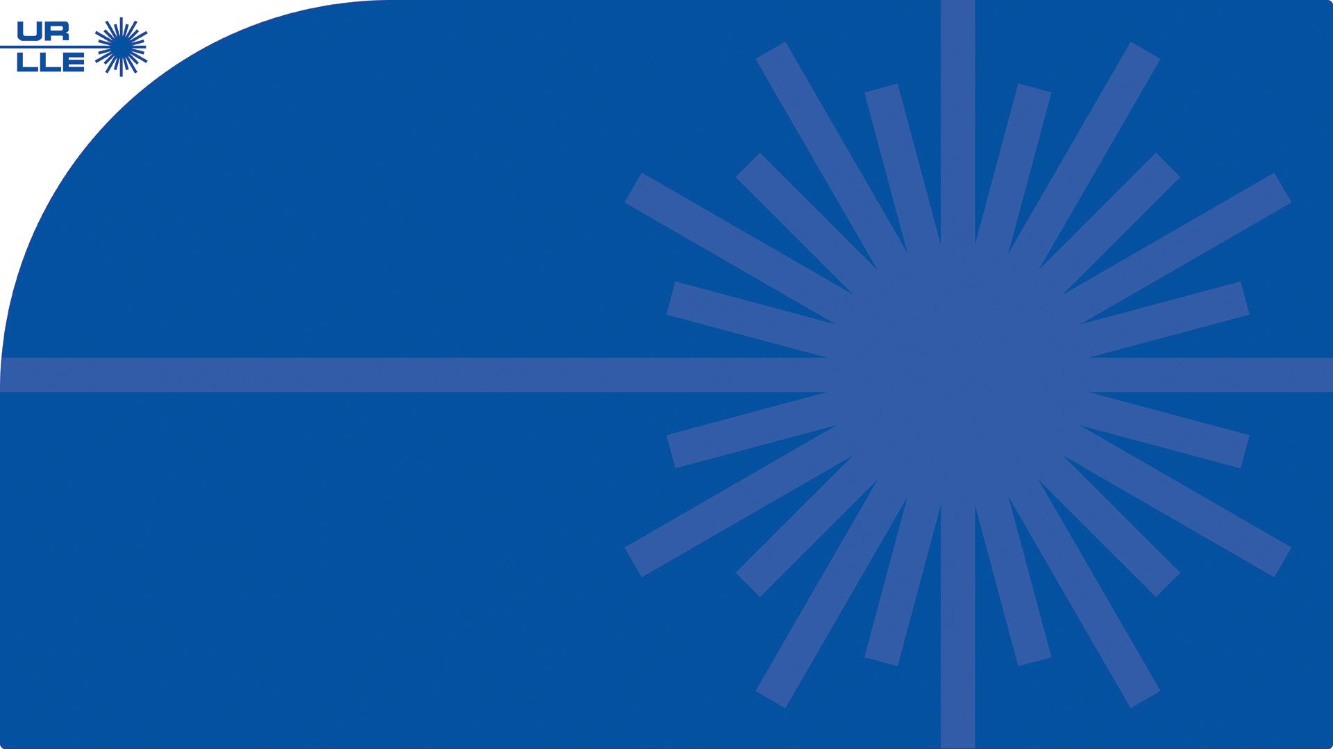 LLE Zoom background with logo, blue, large burst