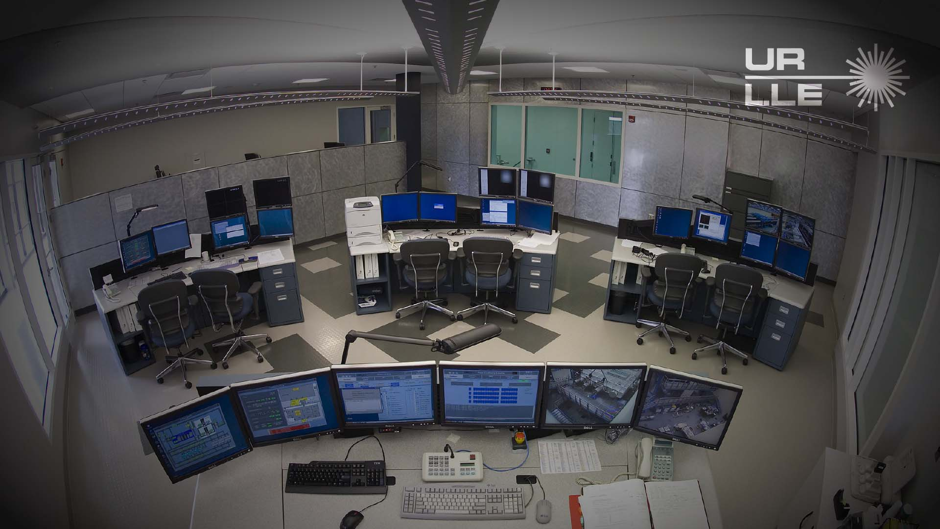 LLE Zoom background with photo of OMEGA EP Control Room