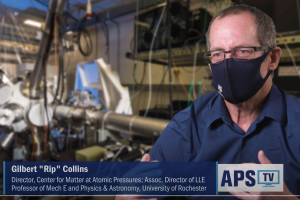 "Gilbert ""Rip"" Collins shown in APS TV video clip"