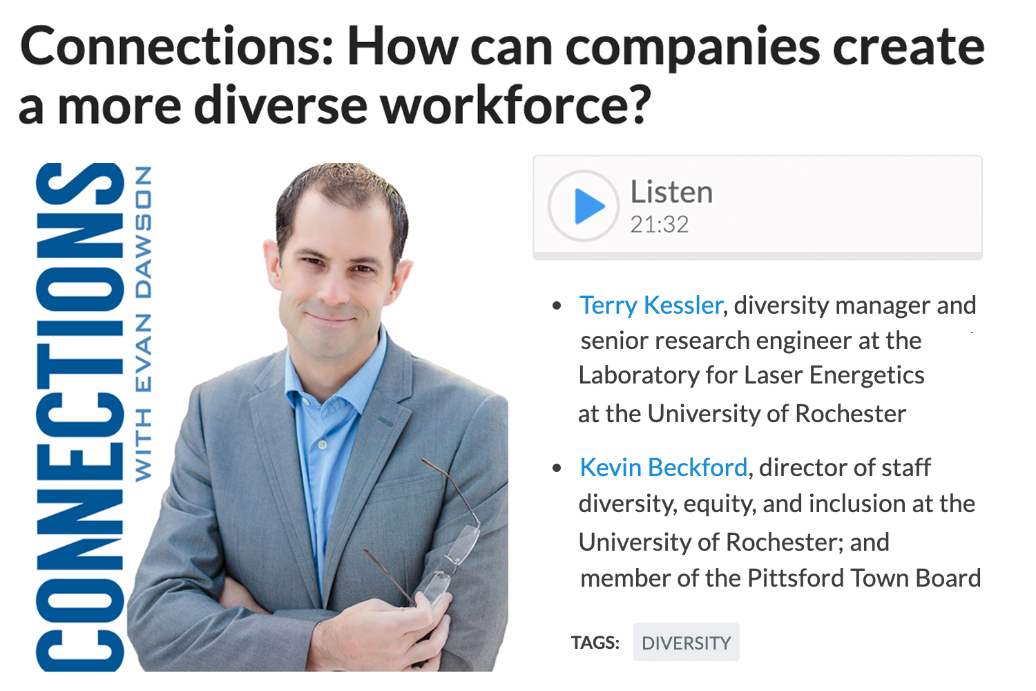 Connections: How can companies create a more diverse workforce?