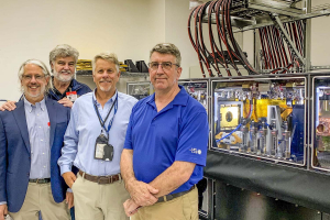 Roger Falcone, Mike Campbell, Mike Perry, and Jon Zuegel at General Atomics.