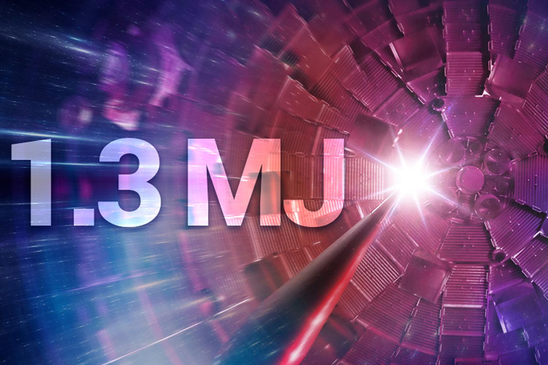 1.3 MJ written on top of target shot image