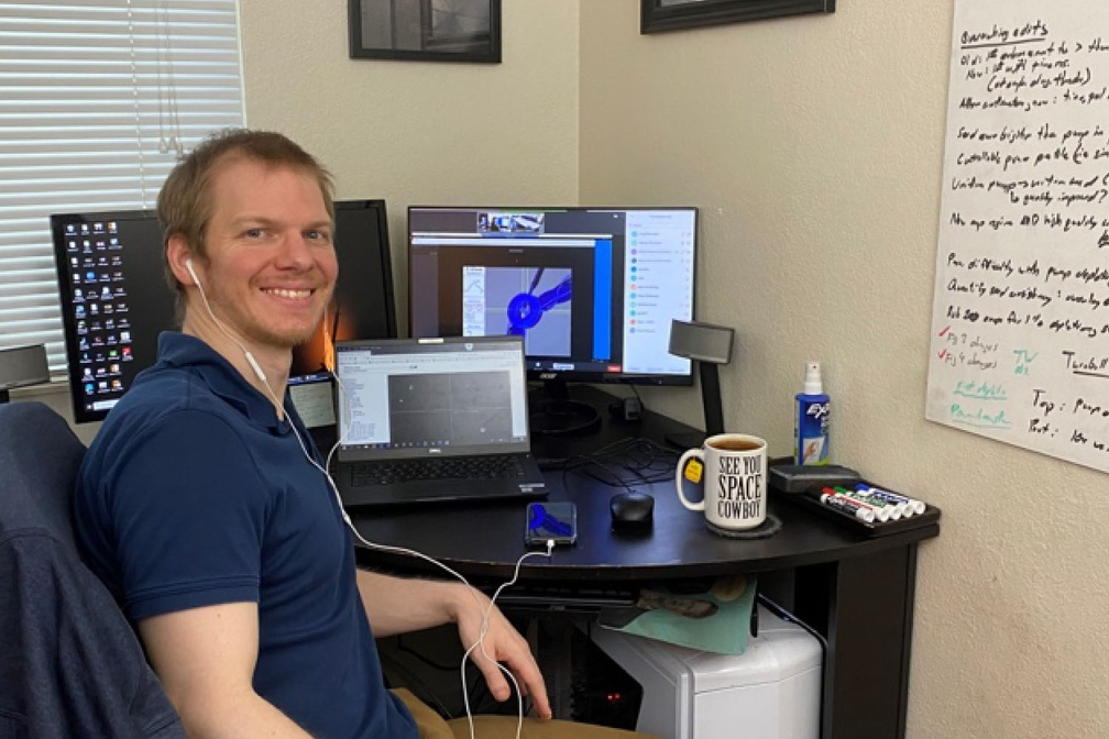Remote PI Dr. Patrick Poole of LLNL runs campaign from home
