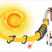 Energy being harvested from the sun