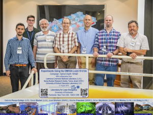 Experiments using the OMEGA Laser System Campaign Optical Depth 19A&B with collaborators from Lawrence Livermore National Laboratory (LLNL), Soreq Nuclear Research Center, Yavne, Israel (SNRC), University of Oxford Clarendon Laboratory (UO) 21 August 2019; Gabriel Perez-Callejo, David Bishel, Josef Ehrlich, Moshe Fraenkel, Ze'ev Shpilman, Ed Marley, and Jim Emig